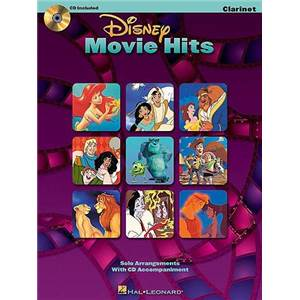 DISNEY - MOVIE HITS FOR CLARINET + CD