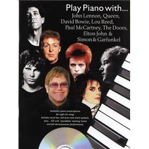 COMPILATION - PLAY PIANO WITH LENNON QUEEN BOWIE, LOU REED, DOORS + CD
