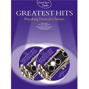 COMPILATION - GUEST SPOT GREATEST HITS PLAY ALONG DUETS FOR CLARINET + 2CD