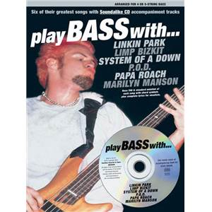 COMPILATION - PLAY BASS WITH LINKIN PARK, LIMP BIZKIT, SYSTEM...TAB. + CD