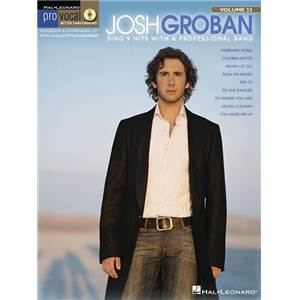 GROBAN JOSH - PRO VOCAL FOR MALE SINGERS VOL.33 + CD