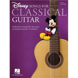 DISNEY - SONGS FOR CLASSICAL GUITAR TAB.