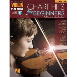 COMPILATION - VIOLIN PLAYALONG VOL.051 CHART HITS FOR BEGINNERS + AUDIO ONLINE ACCESS