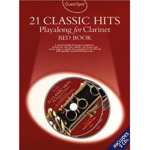COMPILATION - GUEST SPOT 21 CLASSIC HITS RED VOL.POUR CLARINETTE + 2CD