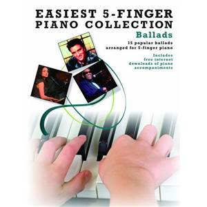 COMPILATION - EASIEST 5 FINGER PIANO COLLECTION : BALLADS