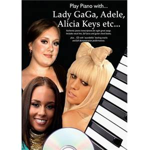 COMPILATION - PLAY PIANO WITH LADY GAGA, ADELE, ALICIA KEYS... + CD