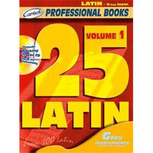 COMPILATION - 25 LATIN FOR C INSTRUMENTS VOL.1 + CD