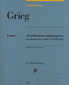 GRIEG EDVARD - AT THE PIANO (15 PIECES ORIGINALES) - PIANO