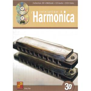 SZLAPCZYNSKI GREG - INITIATION A L'HARMONICA EN 3D + CD + DVD