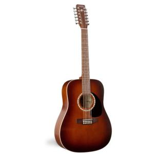 GUITARE FOLK ACOUSTIQUE 12 CORDES ART & LUTHERIE CEDAR ANTIQUE BURST