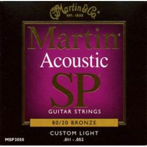 JEU DE CORDES GUITARE FOLK MARTIN MSP 3050 CUSTOM LIGHT 11-52