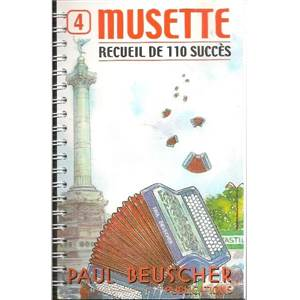 COMPILATION - MUSETTE 4 ACCORDEON RECUEIL DE 110 SUCCES