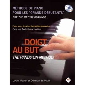 GOUYER L. / LE GUERN D. - DOIGT AU BUT : METHODE PIANO POUR GRANDS DEBUTANTS + CD