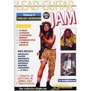DURAND CHRISTOPHE - LEAD GUITAR JAM VOL.5 TRASH SESSIONS + CD