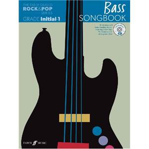 COMPILATION - ROCK & POP GRADED SONGBOOK BASS INITIAL TO GRADE 1 + CD