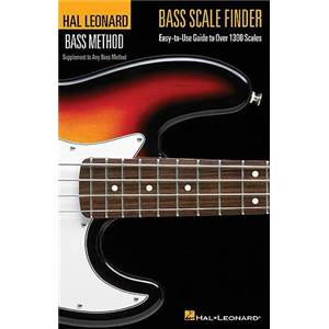 COMPILATION - HAL LEONARD BASS METHOD BASS SCALES FINDER DICTIONAIRE DE GAMME BASSE