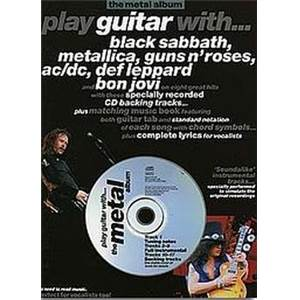 COMPILATION - METAL ALBUM METALLICA, AC/DC, GUNS N' ROSES PLAY GUITAR WITH + CD