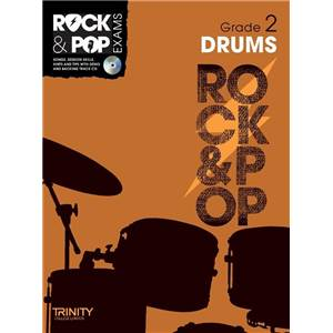 COMPILATION - TRINITY COLLEGE LONDON : ROCK & POP GRADE 2 FOR DRUMS + CD