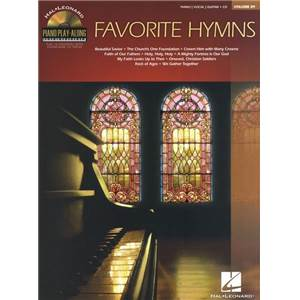 COMPILATION - PIANO PLAY ALONG VOL.089 FAVORITE HYMNS + CD