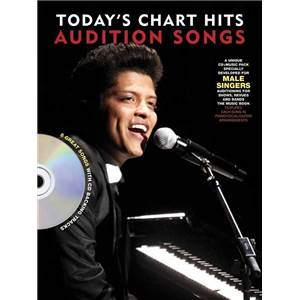 COMPILATION - AUDITION SONGS FOR MALE SINGERS : TODAY'S CHART HITS 2011/2012 + CD