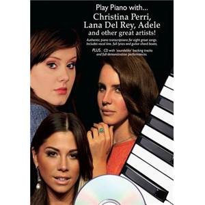 COMPILATION - PLAY PIANO WITH PERRI, LANA DEL REY, ADELE... + CD