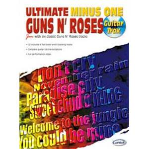 GUNS N' ROSES - ULTIMATE MINUS ONE GUITAR TRAX + CD