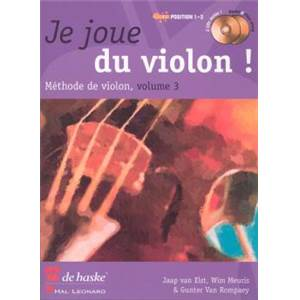 ELST/MEURIS/VAN ROMPAEY - JE JOUE DU VIOLON ! VOL.3 METHODE POSITION 1 3 + CD