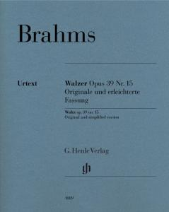 BRAHMS JOHANNES - VALSE OP.39/15 : VERSIONS ORIGINALE ET SIMPLIFIEE - PIANO