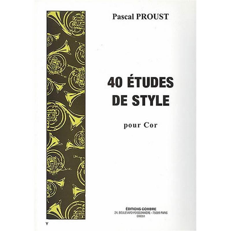 40 ETUDES DE STYLE