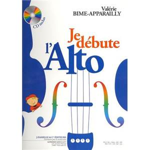BIME APPARAILLY VALERIE - JE DEBUTE L'ALTO METHODE D'ALTO + CD