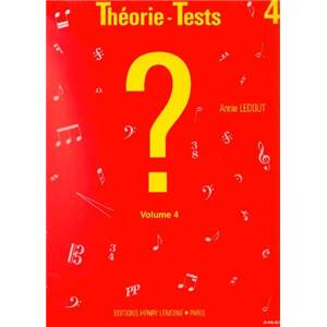 LEDOUT ANNIE - THEORIE-TESTS VOL.4 - FORMATION MUSICALE