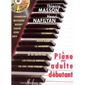MASSON T/NAFILYAN H - METHODE DE PIANO POUR ADULTE DEBUTANT + 2CD