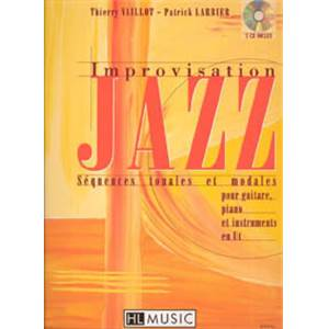 LARBIER/VAILLOT - IMPROVISATION JAZZ VOL.1 + CD