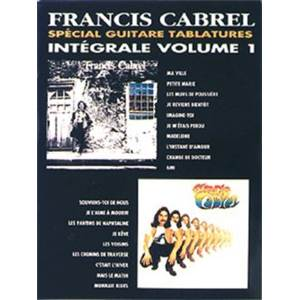 CABREL FRANCIS - INTEGRALE TABLATURE VOL.1