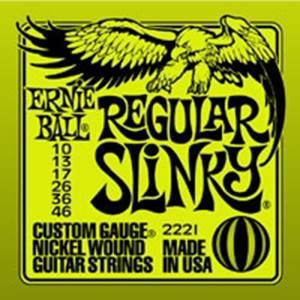 JEU DE CORDES GUITARE ELECTRIQUE ERNIE BALL EB 2221 REGULAR 10/46