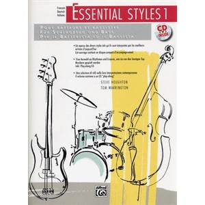 HOUGHTON / WARRINGTON - ESSENTIAL STYLES POUR BASSSE VERSION FRANCAISE VOL.1 + CD