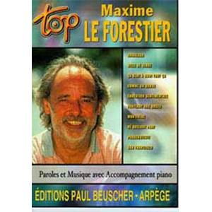 LEFORESTIER MAXIME - TOP LE FORESTIER MAXIME PIANO SIMPLIFIE PAROLES ET ACCORDS