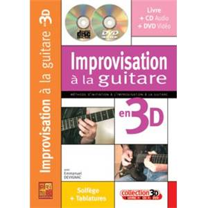 DEVIGNAC EMMANUEL - IMPROVISATION A LA GUITARE EN 3D + CD + DVD