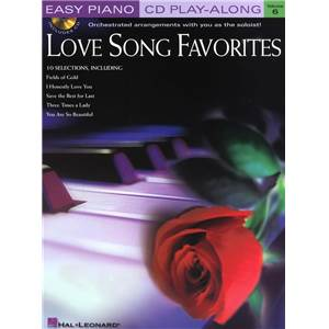 COMPILATION - EASY PIANO CD PLAY ALONG VOL.06 LOVE SONG FAVOURITES + CD