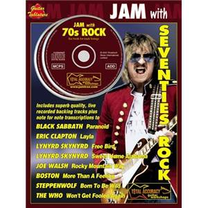 COMPILATION - JAM WITH SEVENTIES ROCK GUITAR TAB. + CD