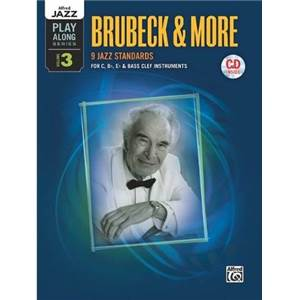 BRUBECK DAVE - JAZZ PLAY ALONG VOL.3 & MORE FOR C, BB, EB AND BASS CLEF + CD
