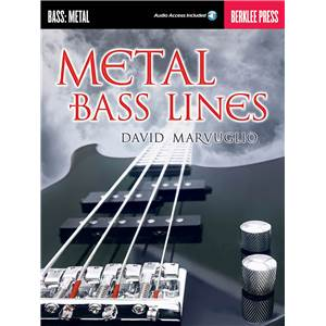 MARVUGLIO DAVID - METAL BASS LINES BERKLEE PRESS + AUDIO ACCESS