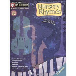 COMPILATION - JAZZ PLAY ALONG VOL.134 NURSERY RHYMES + CD