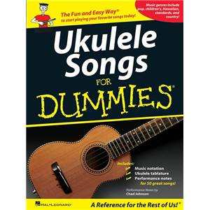 COMPILATION - UKULELE SONGS FOR DUMMIES 50 SONGS UKULELE TAB.