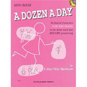 BURNAM EDNA MAE - A DOZEN A DAY MINI VOL.SONGBOOK + CD