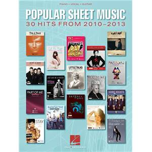 COMPILATION - POPULAR SHEET MUSIC: 30 HITS FROM 2010 2013 P/V/G