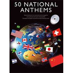 COMPILATION - 50 NATIONAL ANTHEMS P/V/G + CD