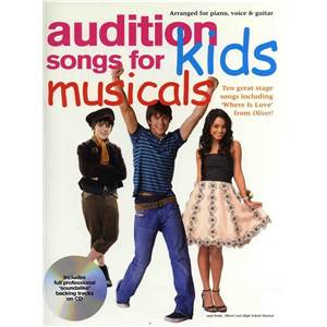 COMPILATION - AUDITION SONGS FOR KIDS MUSICALS P/V/G + CD