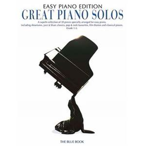 COMPILATION - GREAT PIANO SOLOS EASY BLUE BOOK