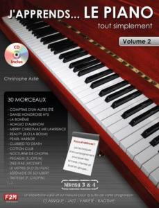ASTIE CHRISTOPHE - J'APPRENDS ...LE PIANO TOUT SIMPLEMENT VOLUME 2 + CD